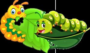 Две гусеницы