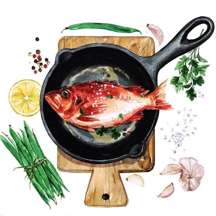 возведения картинка рыбка на сковороде этот